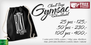 Gymsac Chinchbag Rucksackbeutel