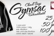 Gymsac, Chinchbags, Rucksackbeutel